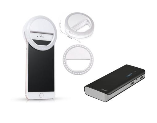 Selfie ring light en powerbank is vlogapparatuur dat je eigenlijk niet kunt missen.
